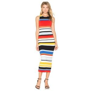 Alice + Olivia | Jenner Striped Knit Midi Dress XS